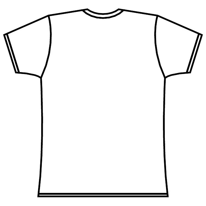 T Shirt Outline Template Free Download Best T Shirt Outline