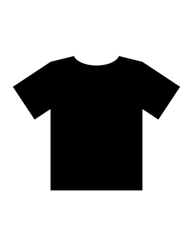 400x518 Blank T Shirt Templates Pdf Within Black T Shirt Template Ebook
