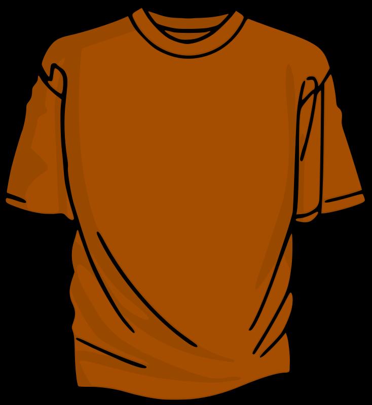 734x800 Orange T Shirt Template. T Shirt Template Maroon Stock Vector
