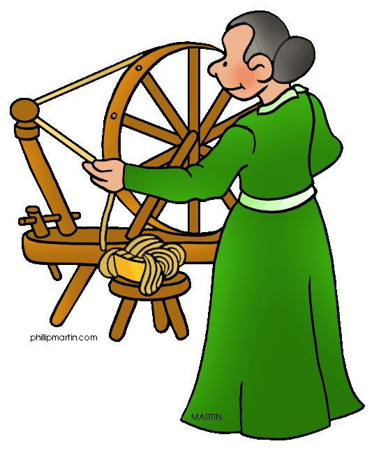 556x648 Free Colonial America Clip Art By Phillip Martin, Spinning Wheel