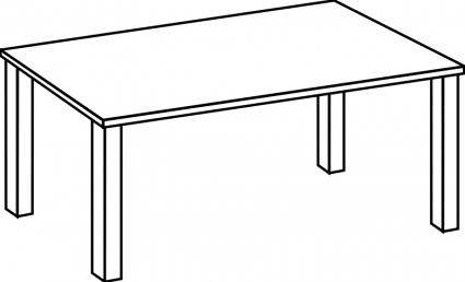 425x258 Table Clipart Table Cartoon Square Furniture Tables Small Square