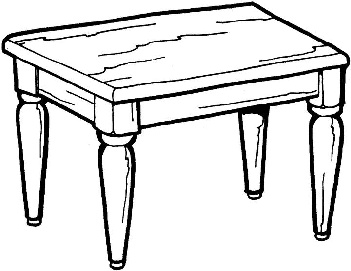 Table Clipart Black And White | Free download on ClipArtMag