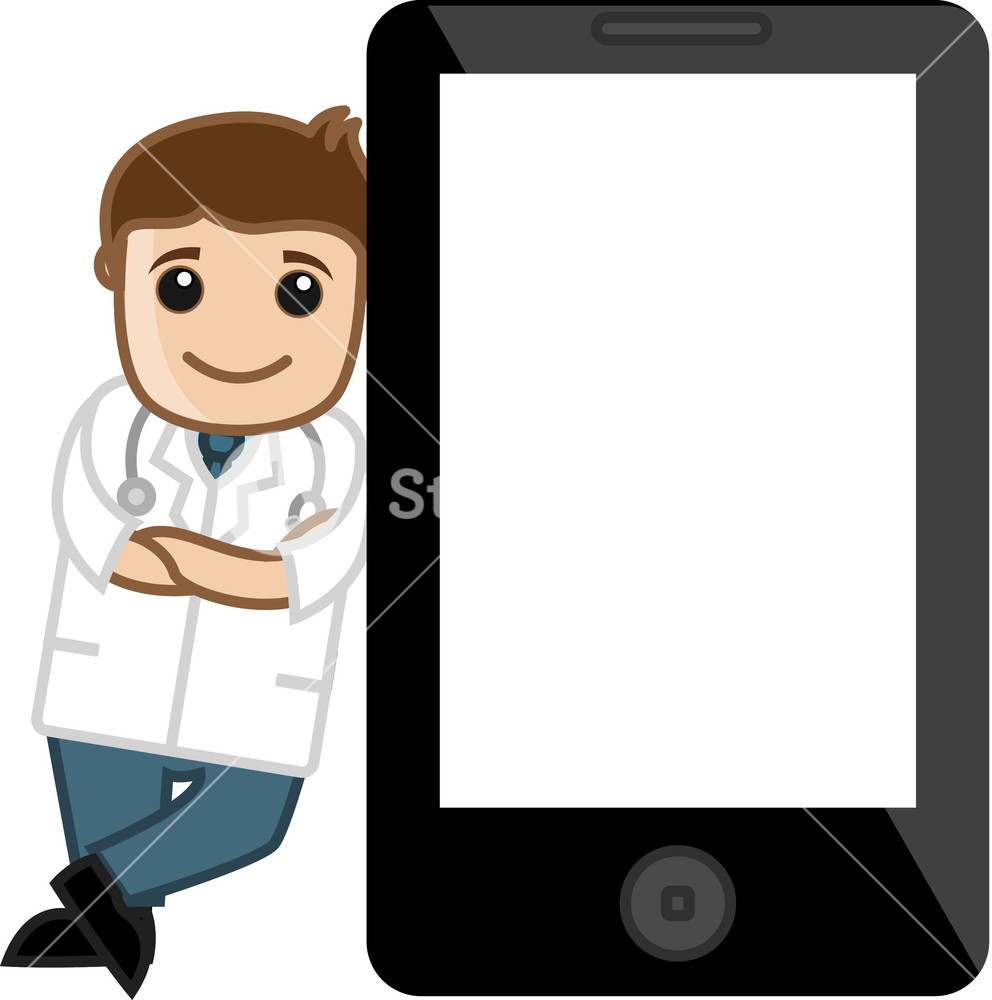 992x1000 Doctor Standing With Tablet Device