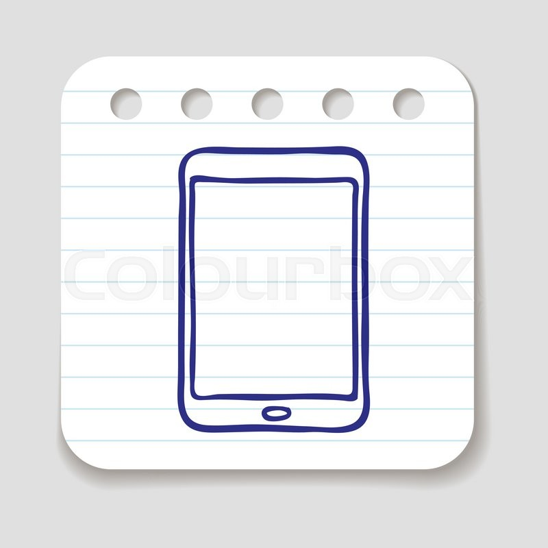800x800 Doodle Tablet Touch Pad Pc Icon. Infographic Symbol In A Circle