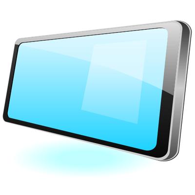 400x400 Flat Glossy Tablet Pc Mockup, Vector Files