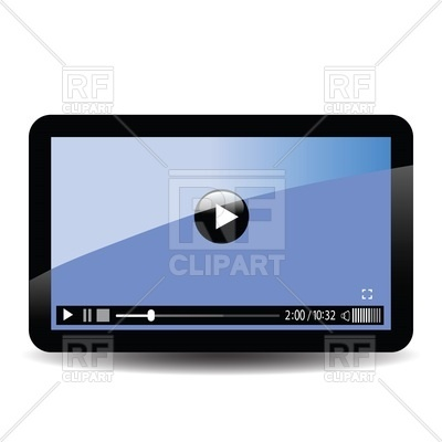 400x400 Interface Of Video Player On Screen Of Tablet Computer Royalty