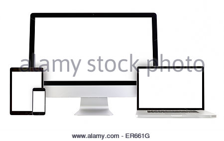 450x283 Smartphone, Laptop, Monitor, Tablet Set Isolated On A Transparent