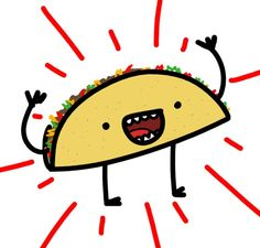 236x225 Fancy Taco Cartoon Mustaches Taco Cartoon, Cartoon
