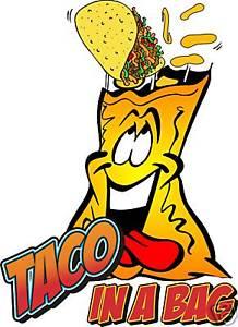 218x300 Taco In A Bag Concession Cart Vendor Food Decal 24 Ebay