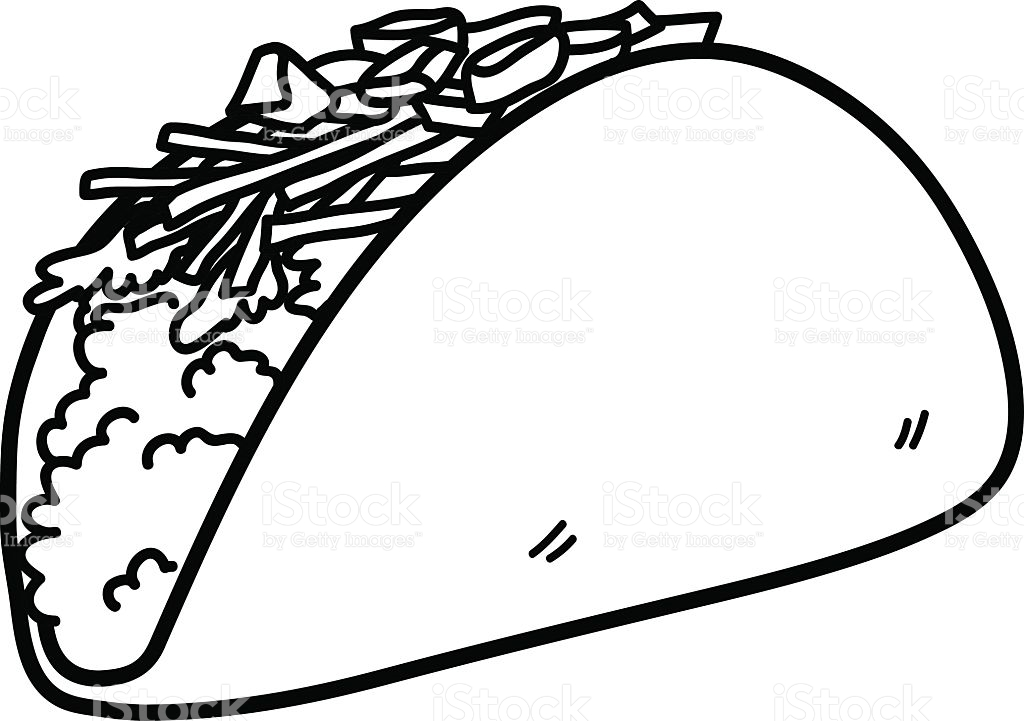 Taco drawing. Clipart free download best