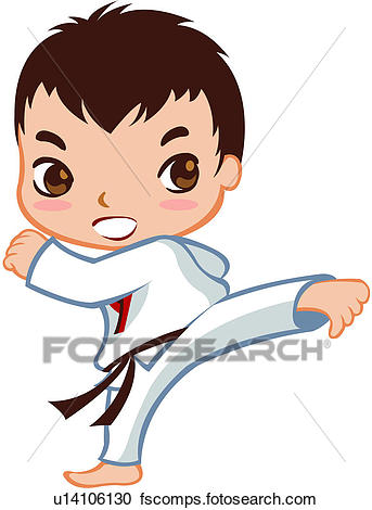 343x470 Clipart Of Person, Full Age, One Person, One Man, Taekwondo