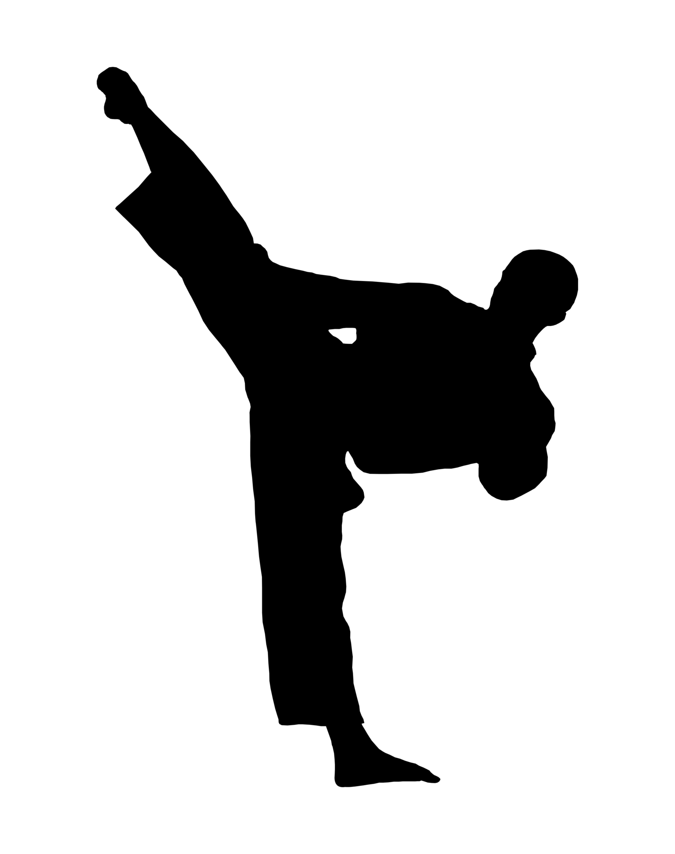 2340x2963 Taekwondo Kick Clip Art