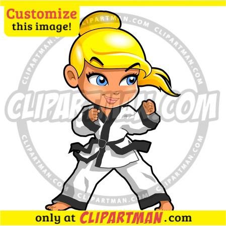 449x450 Taekwondo Cartoon Amp Girl Martial Arts Clipart