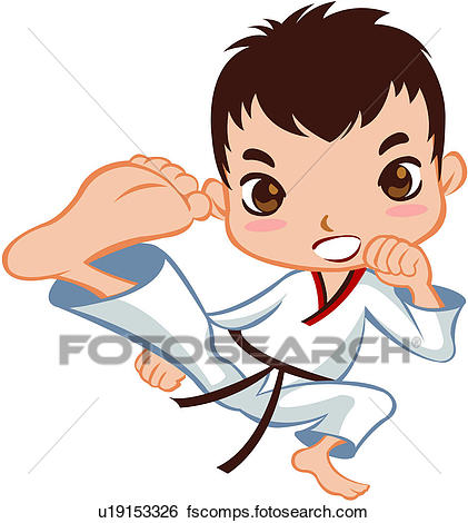421x470 Clip Art Of Person, Full Age, One Person, One Man, Taekwondo