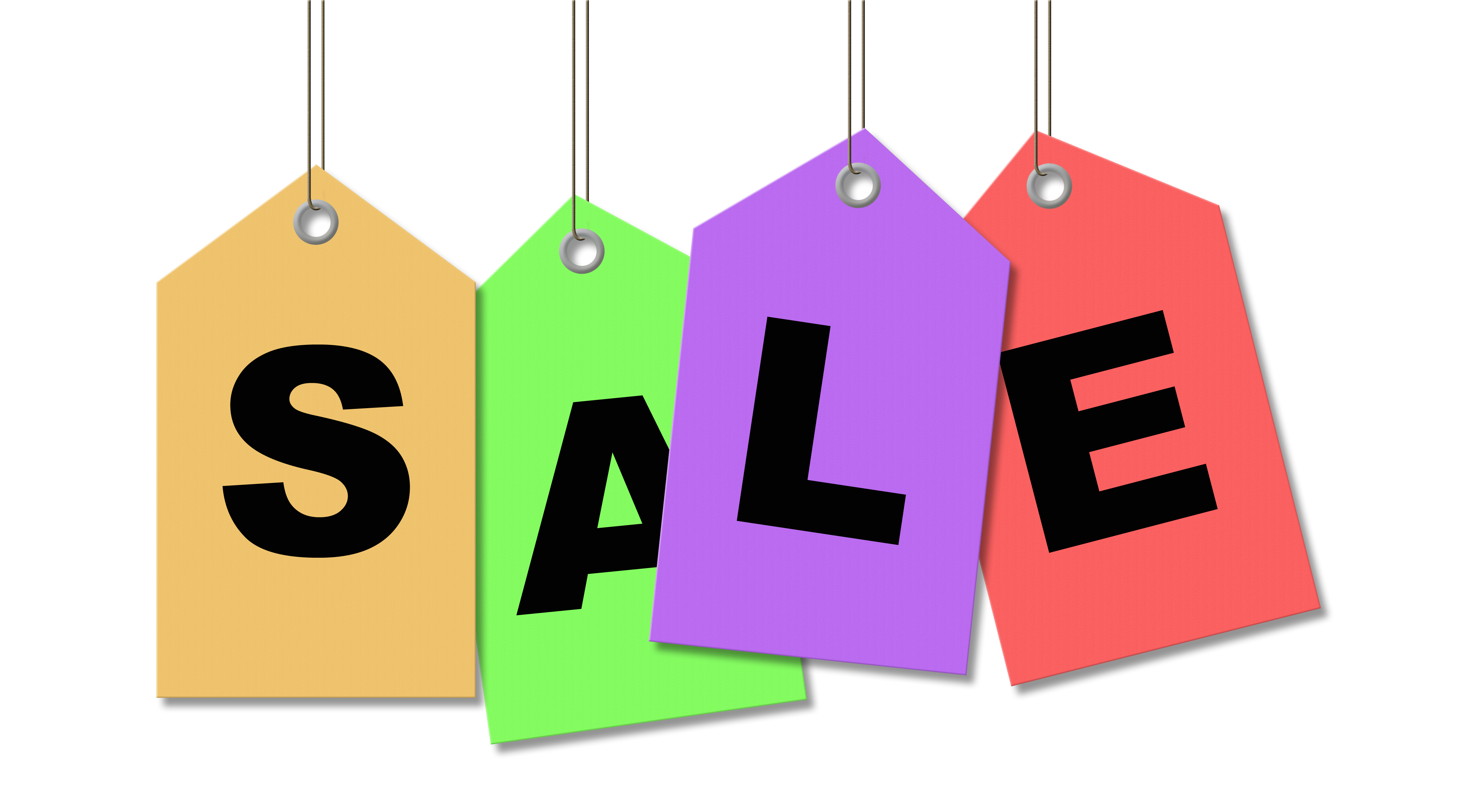 4381x2411 Colorfull Tag Hanging Sale Clipart