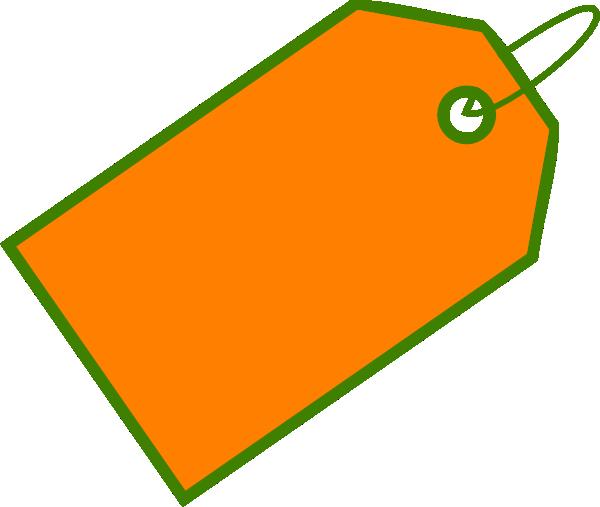 600x507 Orange Sale Tag Clip Art