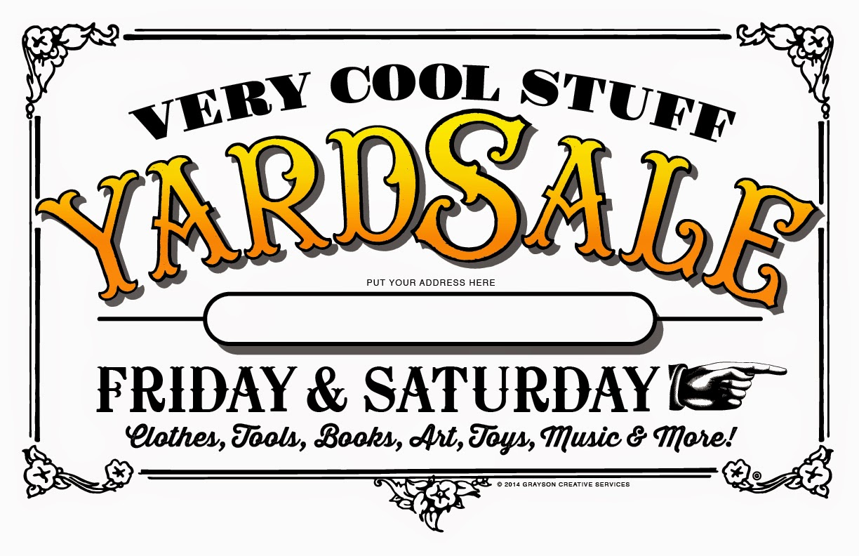 yard sale flyer template free selo l ink co