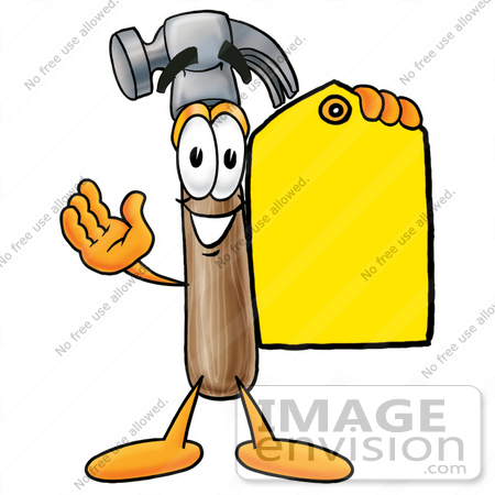 450x450 Cliprt Graphic Of Hammer Tool Cartoon Character Holding