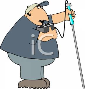 289x300 Cartoon Of An Inspector Taking A Test With A Monitor