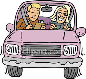 300x276 Woman Taking A Driving Test Royalty Free Clipart Picture