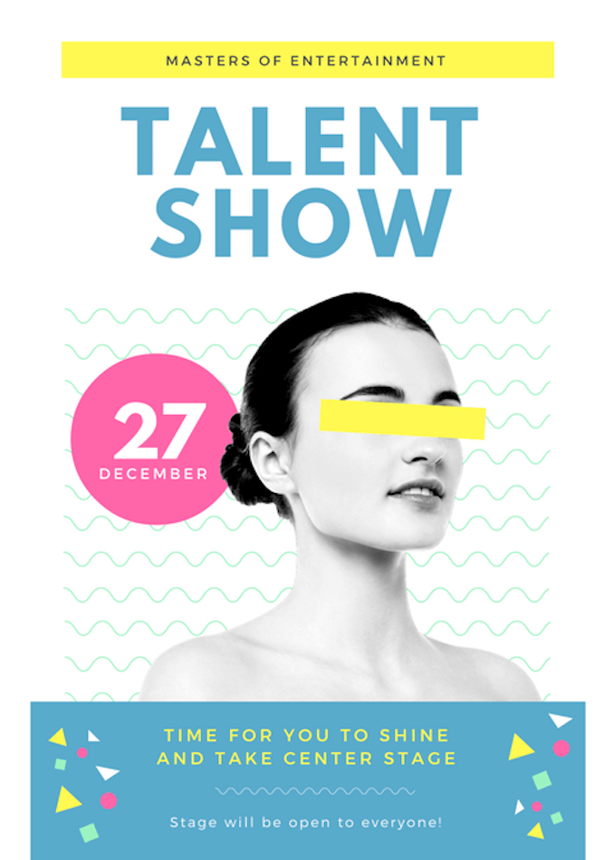 Talent Show Flyer Template Clipart Free Download Best Talent Show
