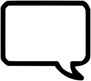 Speech bubble square. Talking clipart free download