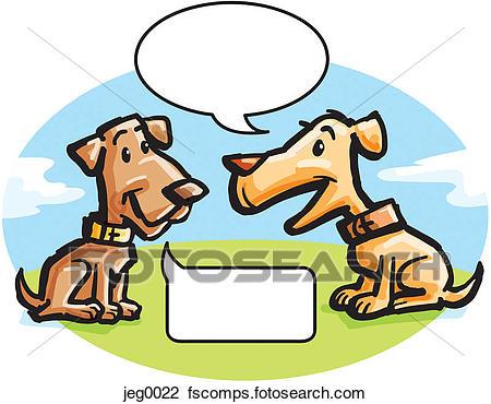 450x370 Clip Art Of Two Dogs Talking Jeg0022
