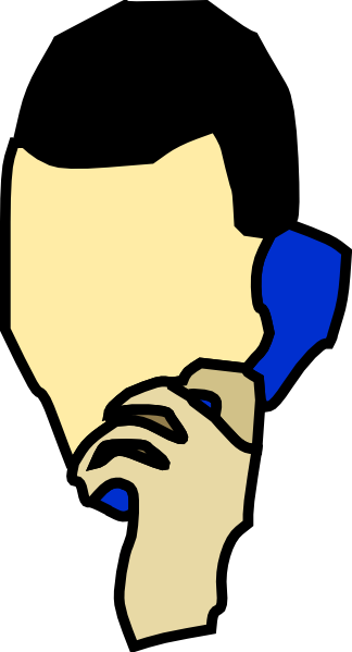 324x599 Man Talking On The Phone Clip Art Free Vector 4vector