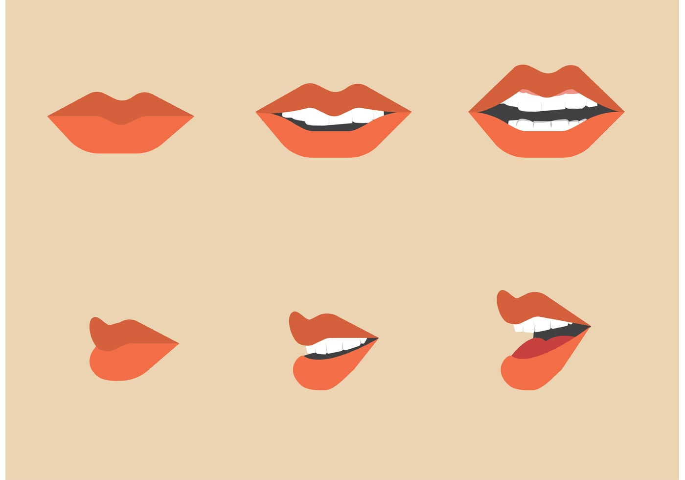 1400x980 Free Mouth Talking Vector Pack