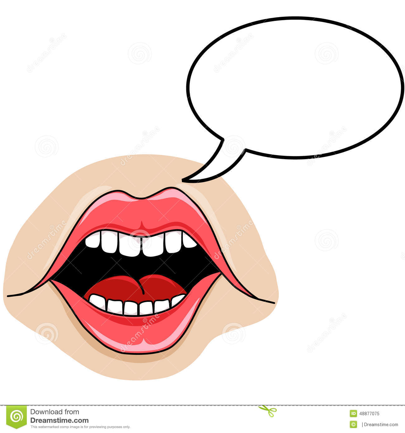 1300x1390 Mouth Speaking Clipart