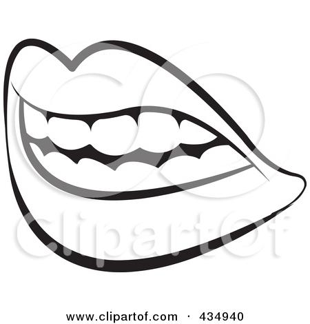 450x470 Black Amp White Clipart Tongue