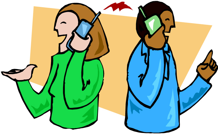 750x467 Phone Clipart Two Person