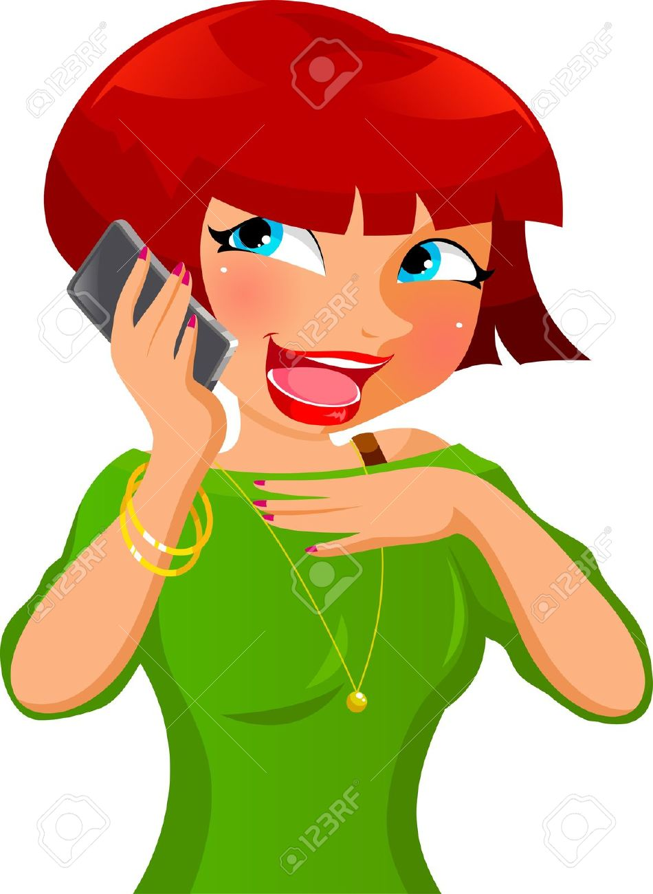 950x1300 Talking On The Cell Phone Clipart