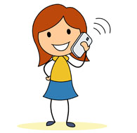 195x190 Talking On The Phone Clipart