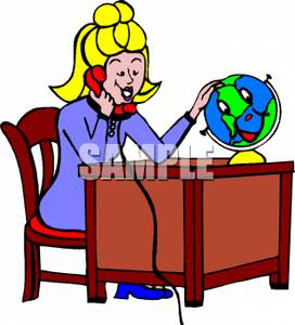 272x300 Art Image A Teacher Talking On The Phone And Playing With A Globe