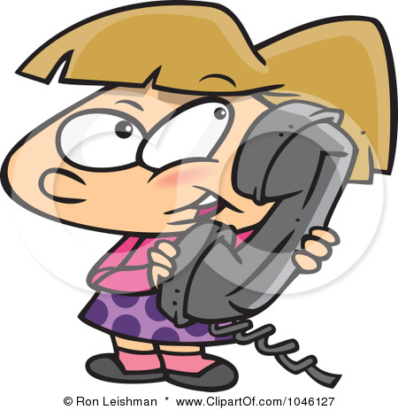 450x463 The Talking On Phone Clipart