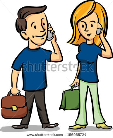 386x470 Woman Talking On The Phone Clipart
