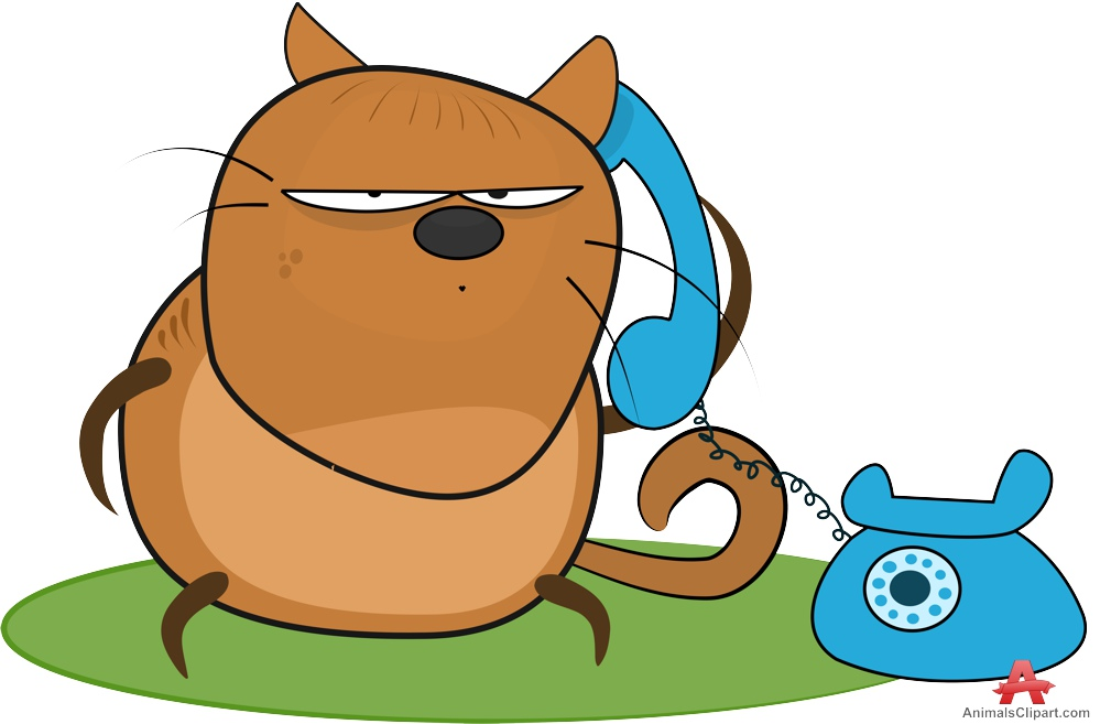 999x657 Cat Cartoon Talking On The Phone Free Clipart Design Download