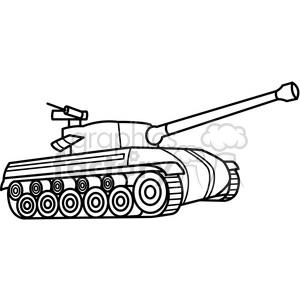 300x300 Royalty Free Tank Outline 397980 Vector Clip Art Image