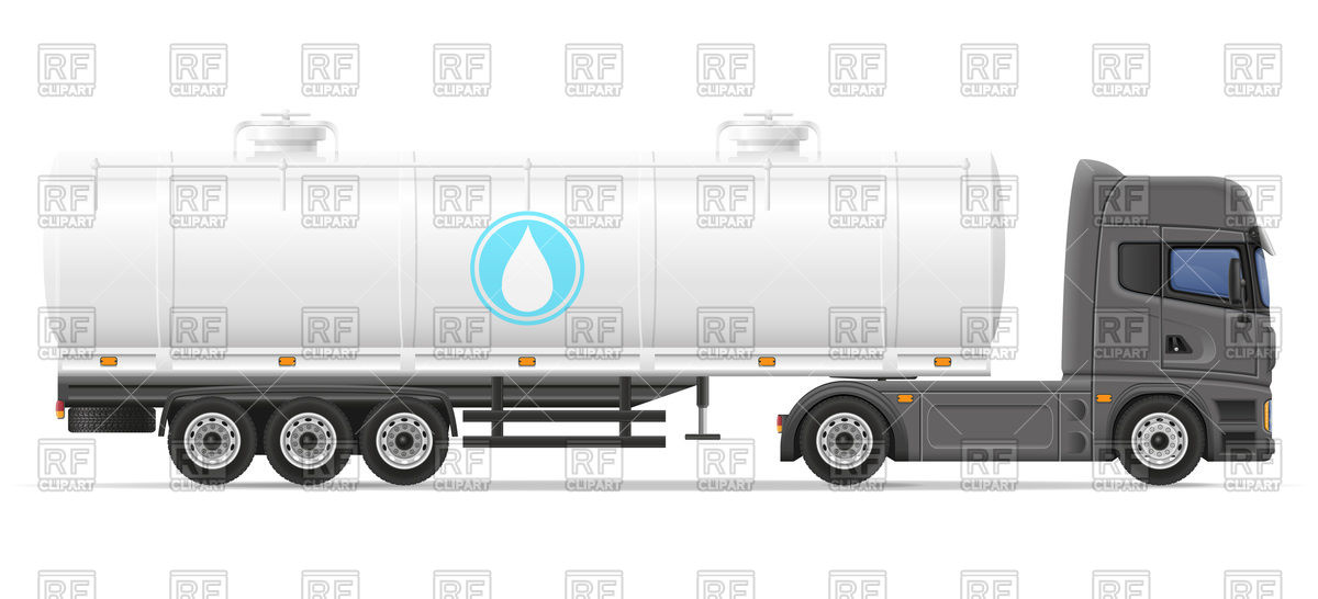 1200x546 Truck Semi Trailer With Tank For Transporting Liquids Royalty Free