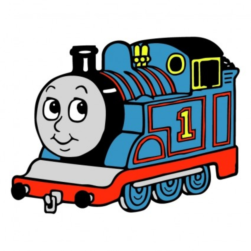 1024x1024 Thomas The Train Clip Art Clipartsco Hd Vektor Thomas Tank Engine