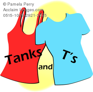 300x296 Art Image Of A Fashion Icon Of A Tank Top And A T Shirt With Logo