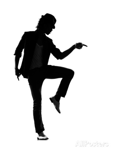 366x488 Black Vector Silhouette Of A Couple Dancing Swing Or Tap Dance, No