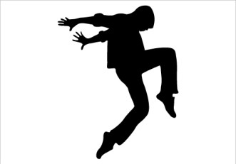 331x231 Dancing Silhouette Clipart