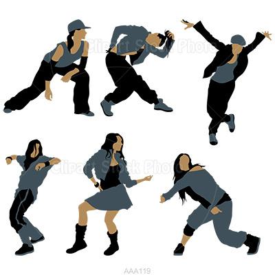 400x400 Dancer Clipart Female Hip Hop Dancer