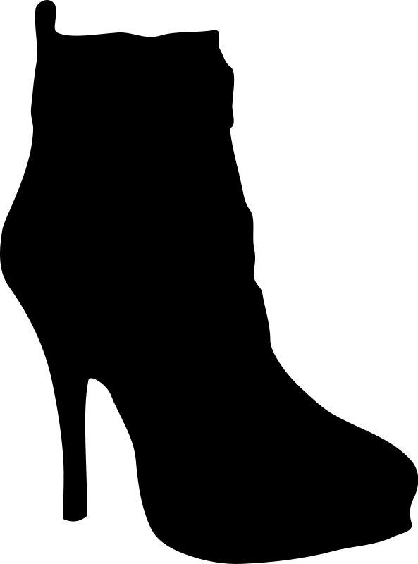 593x800 20 Best Shoe Sillouette Clip Art Images Anniversary