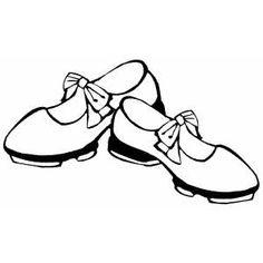 236x236 Tap Dance Shoes Clipart