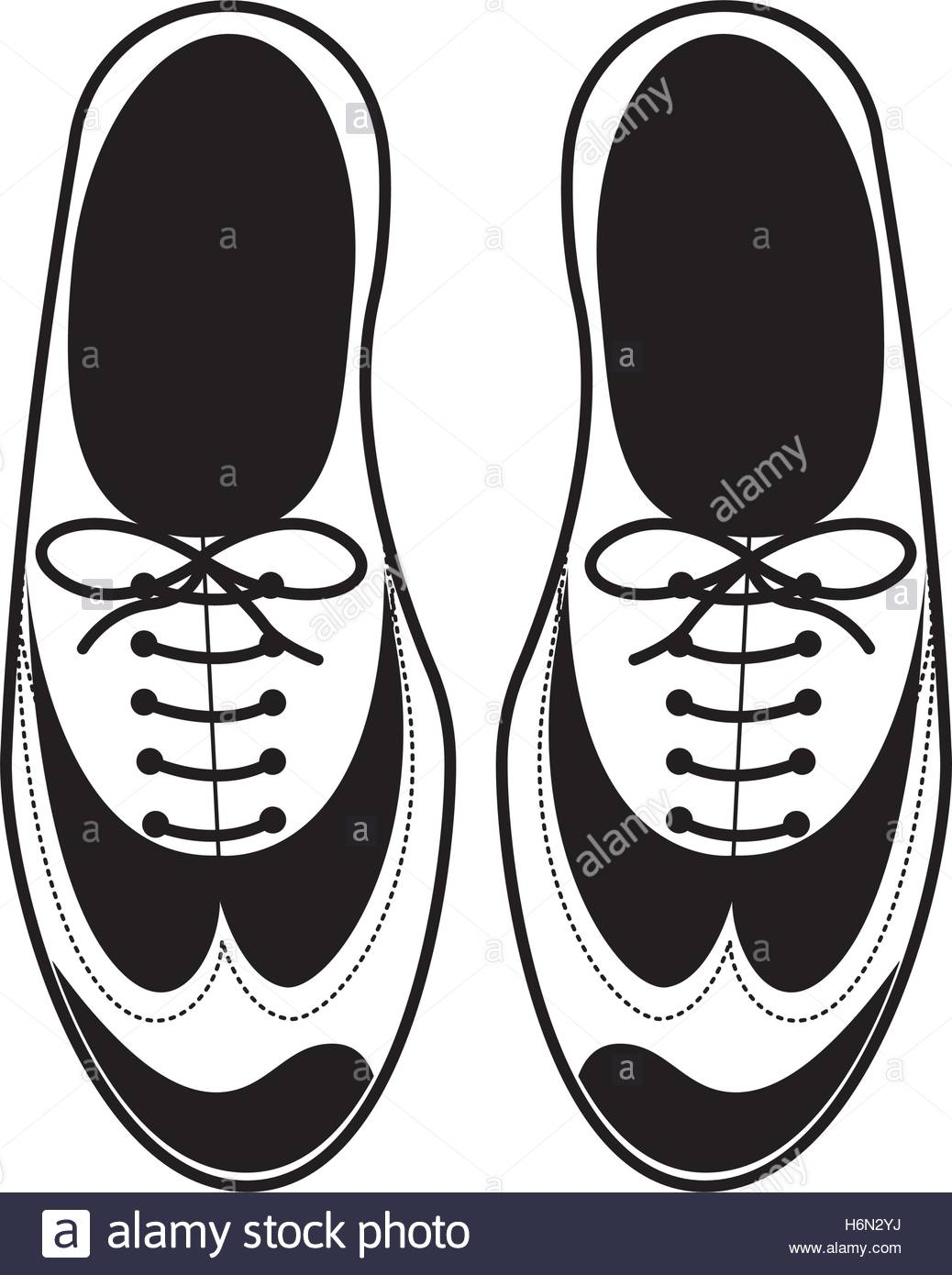 1038x1390 Silhouette Tap Shoes For Mens With Laces Vector Illustration Stock