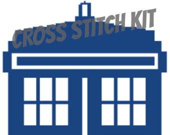 340x270 Doctor Who Tardis Cross Stitch Pattern