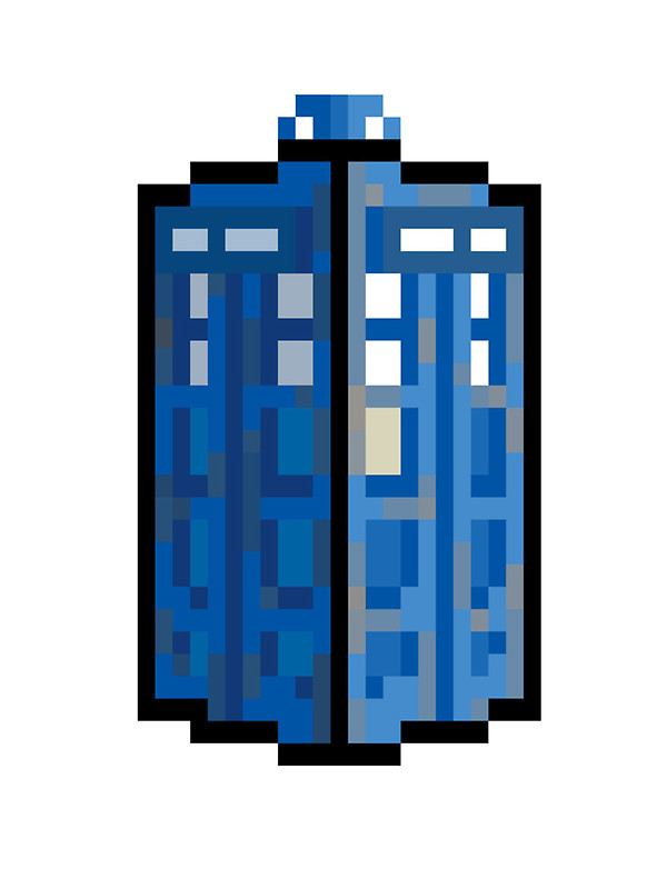 600x800 8 Bit Tardis Stickers By Tomsscreen Redbubble